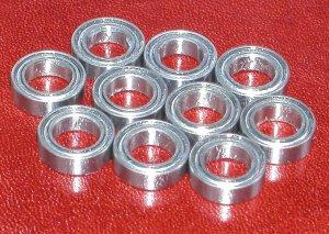 Pack of 10 Miniature Ball Bearings L-850 ZZ Bore//ID 5mm x Dia 8mm L850ZZ//850ZZ
